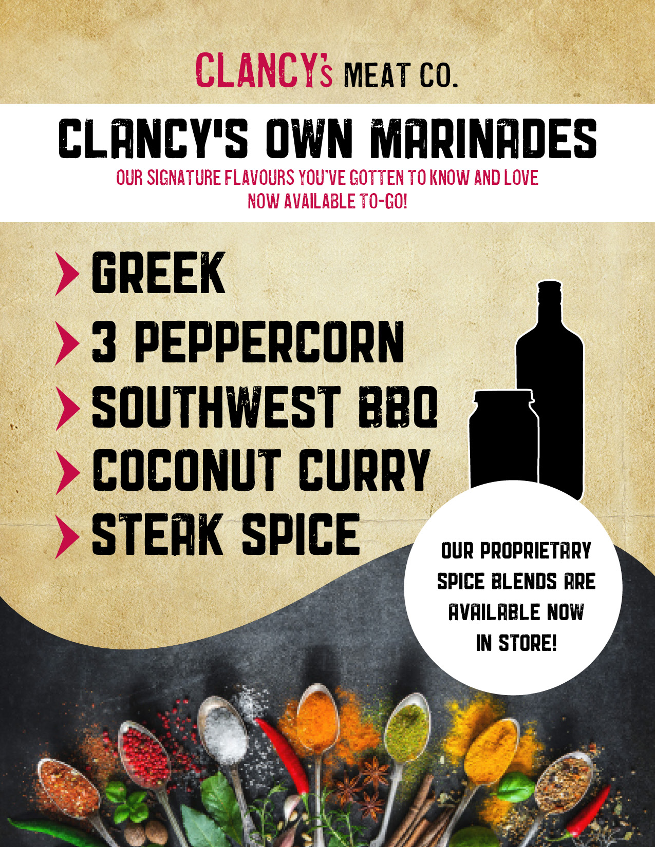 Clancys Proprietary Marinades POP Sign.jpg